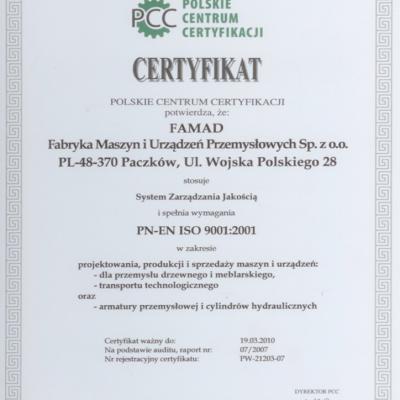 Certyfikat Jakosci Duzy